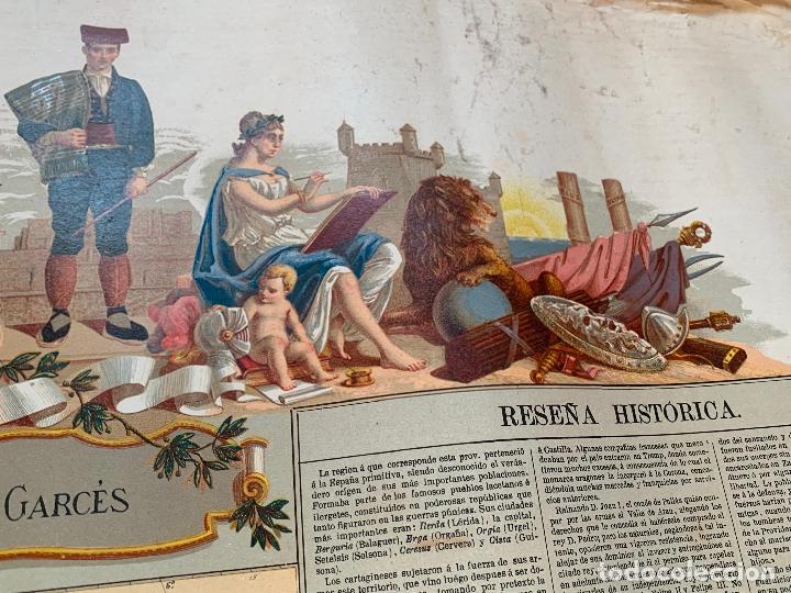Mapas contemporáneos: Precioso antiguo mapa Prov. Lerida, numerado, Lleida. Reseña geografica e historica.1a edicion. - Foto 7 - 177983882