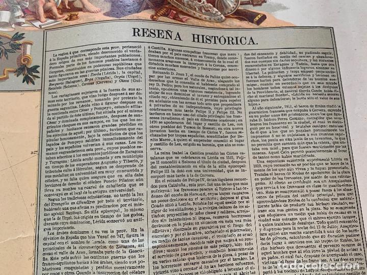 Mapas contemporáneos: Precioso antiguo mapa Prov. Lerida, numerado, Lleida. Reseña geografica e historica.1a edicion. - Foto 8 - 177983882