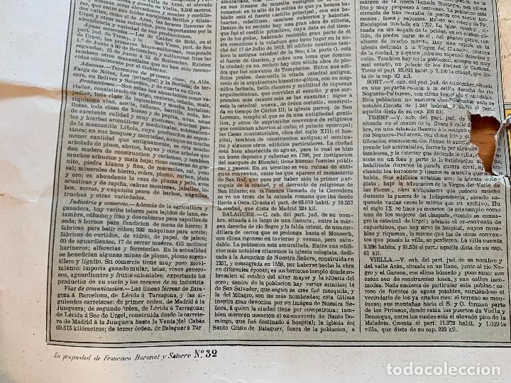 Mapas contemporáneos: Precioso antiguo mapa Prov. Lerida, numerado, Lleida. Reseña geografica e historica.1a edicion. - Foto 9 - 177983882