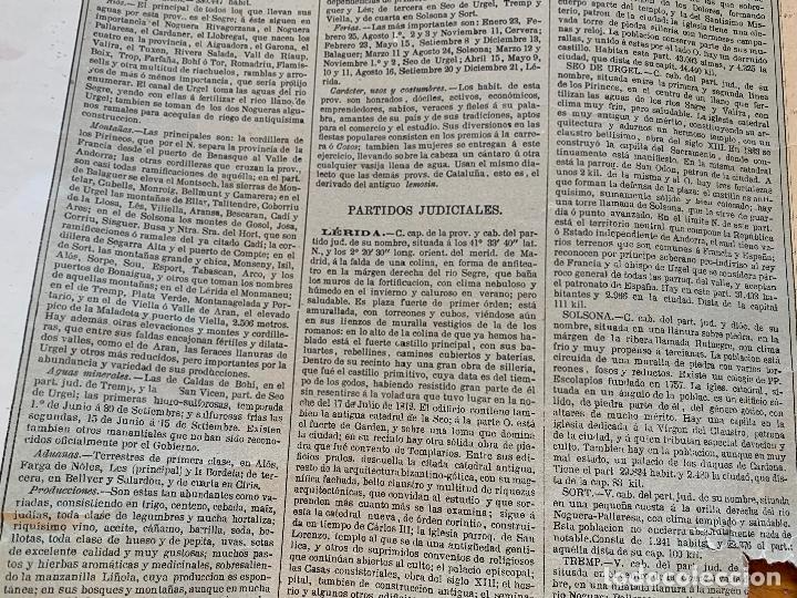 Mapas contemporáneos: Precioso antiguo mapa Prov. Lerida, numerado, Lleida. Reseña geografica e historica.1a edicion. - Foto 10 - 177983882