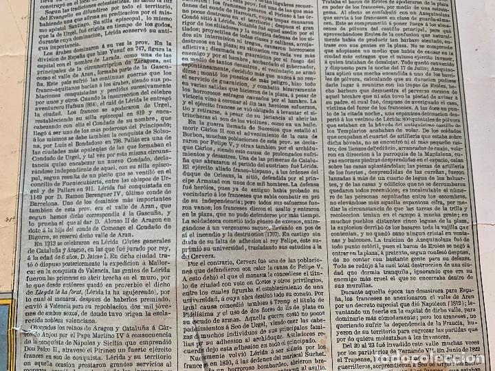 Mapas contemporáneos: Precioso antiguo mapa Prov. Lerida, numerado, Lleida. Reseña geografica e historica.1a edicion. - Foto 11 - 177983882