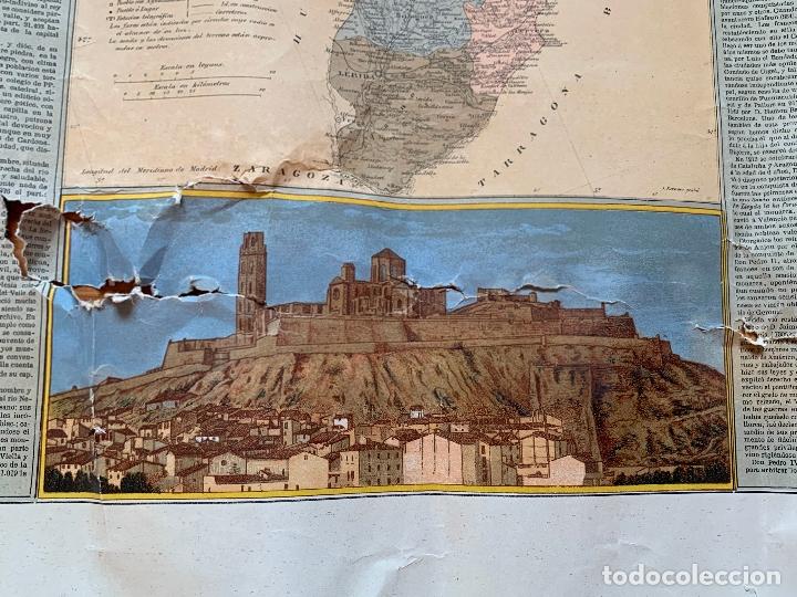 Mapas contemporáneos: Precioso antiguo mapa Prov. Lerida, numerado, Lleida. Reseña geografica e historica.1a edicion. - Foto 12 - 177983882