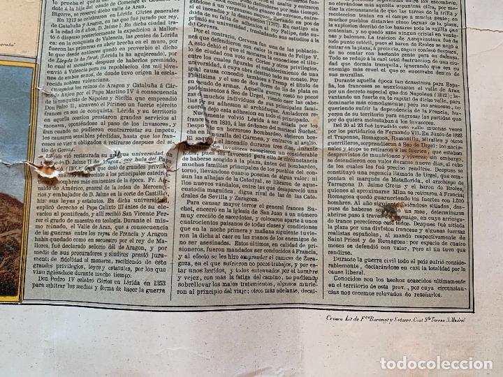 Mapas contemporáneos: Precioso antiguo mapa Prov. Lerida, numerado, Lleida. Reseña geografica e historica.1a edicion. - Foto 14 - 177983882