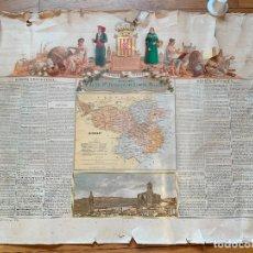 Mapas contemporáneos: PRECIOSO ANTIGUO MAPA PROV. GERONA, NUMERADO, GIRONA. RESEÑA GEOGRAFICA E HISTORICA.1A EDICION.. Lote 177984952