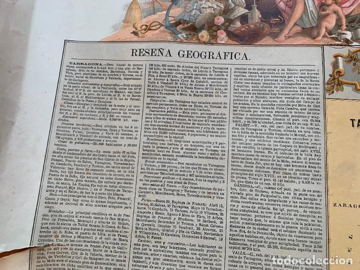 Mapas contemporáneos: Precioso antiguo mapa Prov. Tarragona, numerado, Reseña geografica e historica.1a edicion. - Foto 10 - 177986595