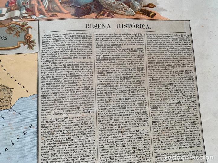 Mapas contemporáneos: Precioso antiguo mapa Prov. Tarragona, numerado, Reseña geografica e historica.1a edicion. - Foto 11 - 177986595