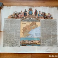 Mapas contemporáneos: PRECIOSO ANTIGUO MAPA PROV. TARRAGONA, NUMERADO, RESEÑA GEOGRAFICA E HISTORICA.1A EDICION.. Lote 177986595