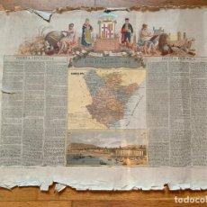 Mapas contemporáneos: PRECIOSO ANTIGUO MAPA PROV. BARCELONA, NUMERADO, RESEÑA GEOGRAFICA E HISTORICA.2A EDICION.. Lote 177987235