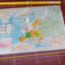 Mapas contemporáneos: GRAN MAPA MURAL FÍSICO Y POLÍTICO EUROPA BASICA, DECORACIÓN COLEGIO ESCUELA VICENS VIVES 1984. Lote 178036275