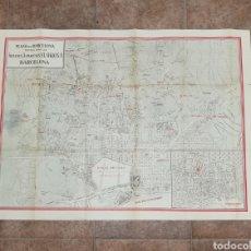 Mapas contemporáneos: MAPA DE BARCELONA ALMACENES SIGLO. Lote 178284347