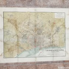 Mapas contemporáneos: MAPA PLANO CIUDAD DE BARCELONA. Lote 178284478