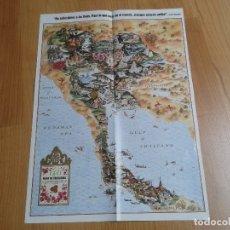 Mapas contemporáneos: MAPA DE THAILANDIA -- GEO -- HISTORIA DEL REY MÚSICO Y LA REINA SIRIKIT. Lote 178373287