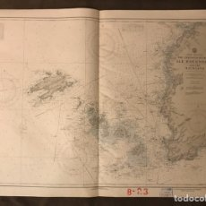 Mapas contemporáneos: MAPA FRANCIA COSTA OESTE. CARTOGRAFÍA THE CHANNELS BETWEEN ILLE D'OUESSANT AND THE MAINLAND (A.1956). Lote 178615121