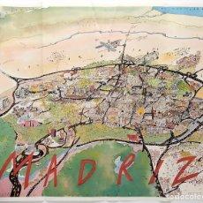 Mapas contemporáneos: PLANO DE MADRIZ DIBUJADO POR ARRANZ. INSERTADO EN LA REVISTA MADRIZ. AÑOS 80. Lote 178628396