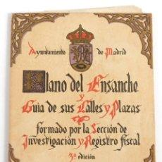 Mapas contemporáneos: PLANO DEL ENSANCHE DE MADRID Y GUÍA DE SUS CALLES Y PLAZAS, AÑO 1922, AYUNTAMIENTO DE MADRID. Lote 178628696