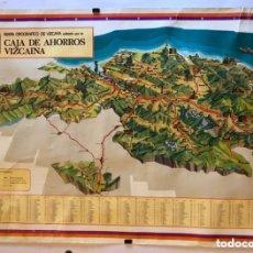 Mapas contemporáneos: MAPA OROGRÁFICO DE VIZCAYA EDITADO POR LA CAJA DE AHORROS VIZCAÍNA EN 1976. 68 X 98 CMS. Lote 178630922