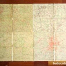 Mapas contemporáneos: ANTIGUO MAPA ENTELADO DE MADRID CAPITAL Y PROVINCIA. 118 X 81 CM . Lote 178708267