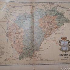 Mapas contemporâneos: MAPA DE SEGOVIA AÑO 1902 50X37 CMS. PEQUEÑAS ROTURAS AL MARGEN VER FOTOGRAFIA. Lote 178735665