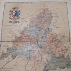 Mapas contemporâneos: MAPA DE MADRID AÑO 1901 50X37 CMS. PEQUEÑAS ROTURAS AL MARGEN VER FOTOGRAFIA. Lote 178737645