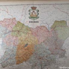 Mapas contemporáneos: MAPA DE ORENSE AÑO 1905 50X37 CMS. Lote 178950342