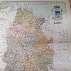 Mapas contemporáneos: MAPA DE LUGO AÑO 1905 50X37 CMS. Lote 178950372
