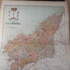 Mapas contemporáneos: MAPA DE LA CORUÑA AÑO 1905 50X37 CMS. Lote 178950402