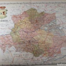 Mapas contemporáneos: MAPA DE CACERES AÑO 1905 50X37 CMS. Lote 178950443