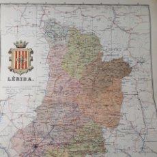 Mapas contemporáneos: MAPA DE LERIDA AÑO 1905 50X37 CMS. Lote 178950512