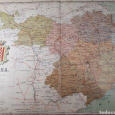 Mapas contemporáneos: MAPA DE GERONA AÑO 1905 50X37 CMS. Lote 178950607