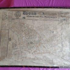 Mapas contemporáneos: PLANO DE CARTAGENA SUS ENSANCHES Y MEDIDAS PRINCIPIOS SIGLO XX - 1000-087. Lote 61551835