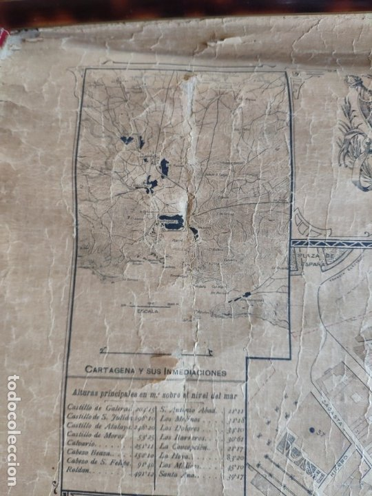 Mapas contemporáneos: PLANO DE CARTAGENA SUS ENSANCHES Y MEDIDAS PRINCIPIOS SIGLO XX - 1000-087 - Foto 7 - 61551835