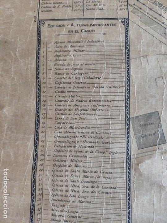 Mapas contemporáneos: PLANO DE CARTAGENA SUS ENSANCHES Y MEDIDAS PRINCIPIOS SIGLO XX - 1000-087 - Foto 8 - 61551835