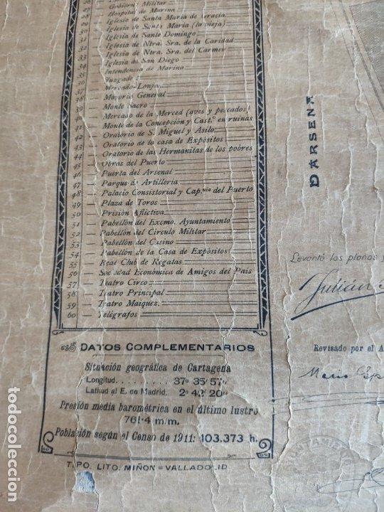 Mapas contemporáneos: PLANO DE CARTAGENA SUS ENSANCHES Y MEDIDAS PRINCIPIOS SIGLO XX - 1000-087 - Foto 9 - 61551835