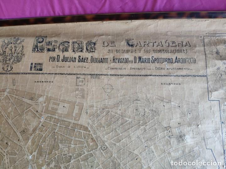 Mapas contemporáneos: PLANO DE CARTAGENA SUS ENSANCHES Y MEDIDAS PRINCIPIOS SIGLO XX - 1000-087 - Foto 10 - 61551835