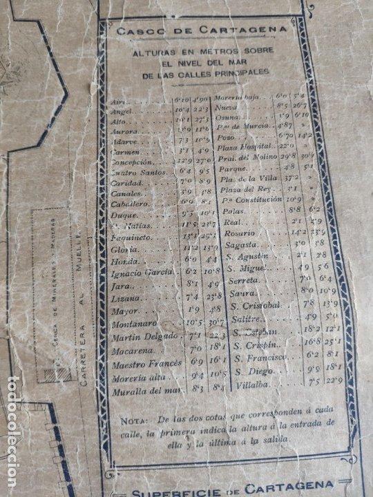 Mapas contemporáneos: PLANO DE CARTAGENA SUS ENSANCHES Y MEDIDAS PRINCIPIOS SIGLO XX - 1000-087 - Foto 13 - 61551835