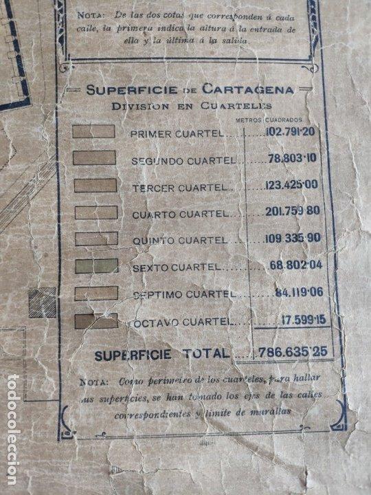 Mapas contemporáneos: PLANO DE CARTAGENA SUS ENSANCHES Y MEDIDAS PRINCIPIOS SIGLO XX - 1000-087 - Foto 14 - 61551835