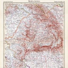 Mapas contemporáneos: MAPA (GRABADO COBRE) DE RUMANÍA OCCIDENTAL (DE ENTREGUERRAS). STIELERS HAND-ATLAS, CENTENARIO 1931. Lote 179004971