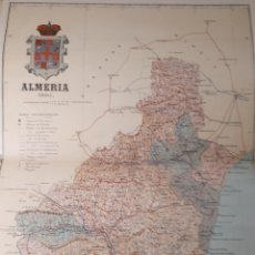 Mapas contemporáneos: MAPA DE ALMERIA AÑO 1901 45 X35 CMS.. Lote 179019966