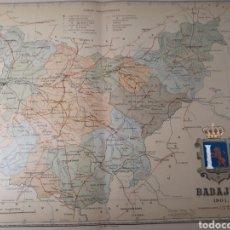 Mapas contemporáneos: MAPA DE BADAJOZ AÑO 1901 45X35 CMS.. Lote 179020013