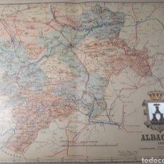 Mapas contemporáneos: MAPA DE ALBACETE AÑO 1902 45 X35 CMS. Lote 179020072