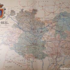 Mapas contemporáneos: MAPA DE CIUDAD REAL AÑO 1902 45X35 CMS. Lote 179020316