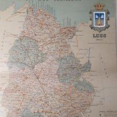 Mapas contemporáneos: MAPA DE LUGO AÑO 1901 45X35 CMS. Lote 179020572