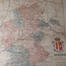 Mapas contemporáneos: MAPA DE BURGOS AÑO 1902 45X35 CMS. Lote 179020630
