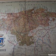 Mapas contemporáneos: MAPA DE SANTANDER AÑO 1905 45X35 CMS. Lote 179021532
