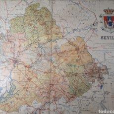 Mapas contemporáneos: MAPA DE SEVILLA AÑO 1905 45X35 CMS. Lote 179022367