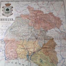 Mapas contemporáneos: MAPA DE HUELVA AÑO 1905 45X CMS.35. Lote 179022508
