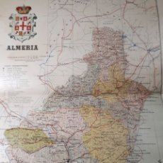 Mapas contemporáneos: MAPA DE ALMERIA AÑO 1905 45X35 CMS. Lote 179022700