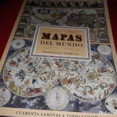 Mapas contemporáneos: MAPAS DEL MUNDO RODERICK BARRON CUARENTA LAMINAS A TODO COLOR EDITORIAL LIBSA 1991. Lote 179169597