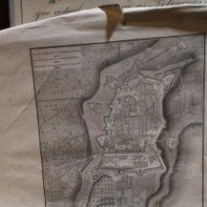 Mapas contemporáneos: ANTIGUO GRABADO, PLANO DE LA CIUDAD Y DEL NUEVO PUERTO DE TARRAGONA, SIGLO XIX. Lote 179187581