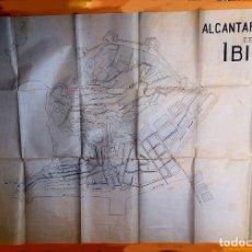 Mapas contemporáneos: IBIZA - MAHON - 1915 - 1920 - ALCANTARILLADO - 4 MAPAS ORIGINALES - TINTA . Lote 179219800